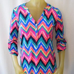 Lilly Pulitzer Hearts a Flutter Janelle Top Size S